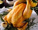 京赤地鶏肉丸ロースト(約2kg)&マッシュドポテト/特製ソース2種(和風・チキングレイビー)