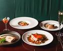 【PRIX FIXE COURSE / 月~木】前菜2種、パスタ、メイン料理、デザートの全5品+2ドリンク