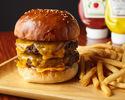 Double cheddar cheeseburger