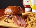 Barbecue bacon burger