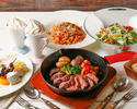 【ランチ】メインは定番!ビーフステーキラクレットコース 6皿8品 3,850円(税込)