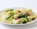 【年末年始ランチ】花イカと季節野菜の柚子風味炒め