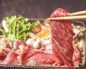 ≪お食事に≫国産黒毛和牛のすき焼き×豪華お造り八寸盛りなど11品