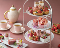 [Cheers with sparkling]  Strawberry Afternoon tea set
