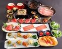 〔個室〕【謹製コース全12品】2時間制◆人気の元祖焦がしタレ肉土鍋付◆
