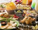 【AlohaAmigoコース】1ドリンク付♪付アミーゴ名物フリフリチキン!ガーリックシュリンプやオリジナルタコライスまでサラダやデザートもしっかりと!