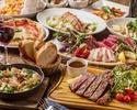 【お食事に】豪華シャリュキュトリーミートプレートや焼き立て窯焼きピッツァを堪能できるプレミアムプラン