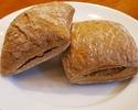 【テイクアウト】ライ麦パン 2個 燻製クリーム付き