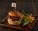 PRIME BEEF CHEESE HAMBURGER-french fries-