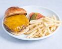 【TakeOut】Tankaku Wagyu Burger,Cheese,Pickles French fries 220g