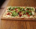 チッチョリ セミドライトマト スカモルツァチーズのフラットブレッドピザ