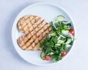 【TakeOut】Chicken Paillard Grilled Herb Marinated Breast of Daisen Chicken, Greek Salad