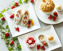 【平日限定・ストロベリーフェア】旬の苺を贅沢に使ったデザートと選べるコーヒー・紅茶のセット
