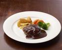 AGIO' s speciality: Hamburger in demi-glace sauce