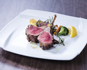 Charcoal grilled lamb