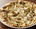 Pizza with mixed mushrooms and truffle