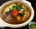 九条葱万能調味料で食べる一人鍋