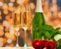 《 ANNIVERSARY & QUEUE DE LAPIN  》 Congratulatory message & Glass champagne