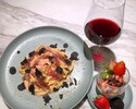 【Strawberry+Truffle set】Truffle + strawberry Pasta(wine&dessert)
