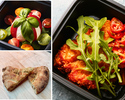 【テイクアウト】イタリアンウェイ(カプレーゼサラダと熊野地鶏のコトレッタ、フォカッチャ)