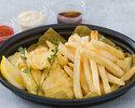 鱈のフィッシュ アンド チップス