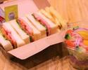 BLT sandwich (with salad)