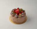 苺と生チョコのデコレーションケーキ(10㎝)