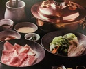 お昼の  しゃぶしゃぶセット(やまと豚ロース肉+六白豚バラ肉)