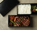 濠 松阪牛と車海老のステーキ重弁当(御飯)