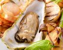 20時以降もOK【カバも飲み放題2時間・肉炭火焼×牡蠣のコラボ】牛イチボ等3種肉盛&生牡蠣・牡蠣パスタ(全9品)
