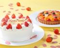 【テイクアウト】 いちごのショートケーキ(直径18cm)