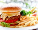 【テイクアウト】ローズホテル横浜ビーフハンバーガー ポテトとピクルス添え