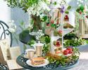 【WEB14%OFF/平日】抹茶とストロベリーの「ル・ジャルダン・スクレ」アフタヌーンティー