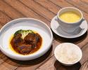 【TAKE OUT】シンガポール・ホーカーセット(ビーフレンダン・ライス&スープ)