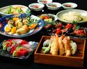 【カジュアルな宴会にお薦め】旬のお刺身や季節の天ぷらなど旬菜コース7品+2H飲み放題