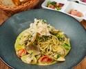 もちもち太麺生パスタ:春あさりと菜の花のクリームパスタ