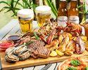 オマール海老とアワビの豪華海鮮とお肉のBBQプラン