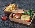 【Girandole】 Grilled cheese burger, French fries
