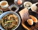 5月 おすすめ膳 山菜蕎麦と天むす