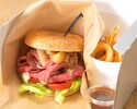 [Take out] Roast beef bagel sandwich Teriyaki sauce Accent of Sichuan pepper