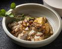 鶏モモ肉のグリル ケイジャンマリネ・かぼちゃのニョッキ・プレザーブド レモンソース