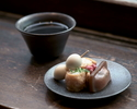 【当店おすすめ】大人のかき氷各種+ミニこんにゃく寿司・福岡茶酒房 yorozuの日本茶付き