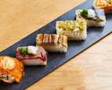 【込】飲み放題付き!炙り寿司6貫コース 全7品