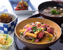 [Kobe Tamura] [Lunch] Kobe beef meat chirashizushi lunch