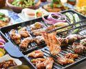 肉食べ放題プラン!夏だ!豪快!肉5種盛り!エスニックプレミアムBBQセット【2H飲み放題込み】