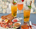 【Rooftop Bar】Cold cut meat + 3 Drinks