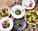 2Hフリードリンク付き、旬食材のピッツァ・パスタ・メインなど春らしさを添えた「カジュアルコース」