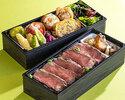 初夏のステーキ二段重弁当¥3,000(税込)                 【お持ち帰り専用・3日前まで要予約】