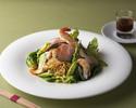 春のグリーン野菜とスモーク<海老&和牛&チキン>の和えそばセット