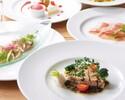 【UvaRara 5月の旬食材の特製ディナーコース『ラ・チェーナ』】前菜2品・パスタ料理・Wメイン・デザート盛合せ等全6品のイタリアンディナー